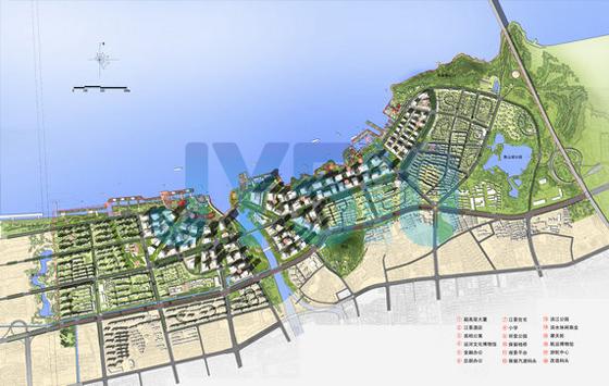 滨江地区规划总平面图