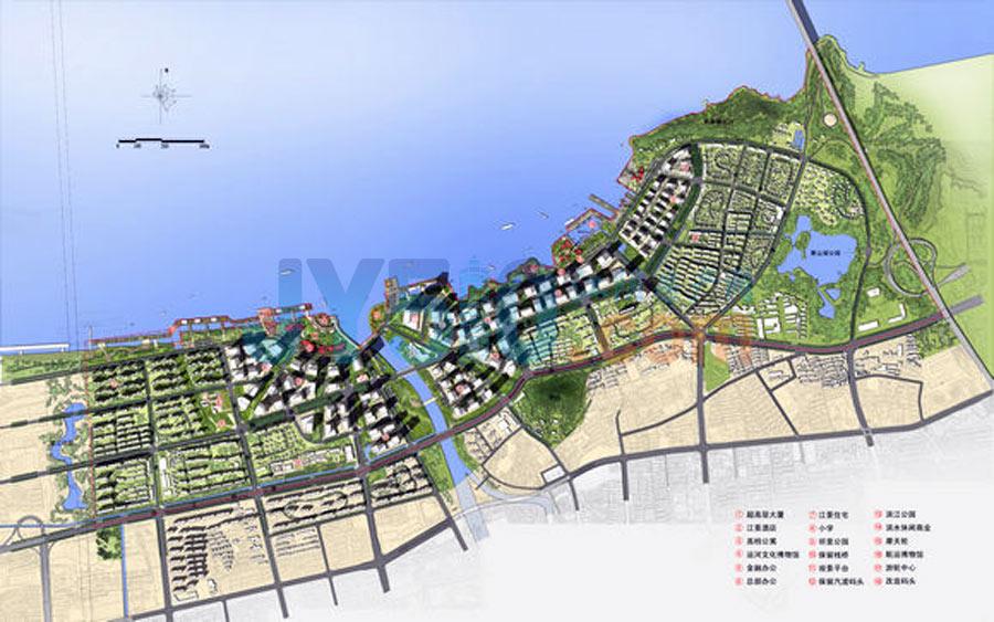 滨江地区规划平面图