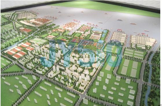临港新城,按照政府规划,定位成为临港产业城、澄西卫星城、高清图片