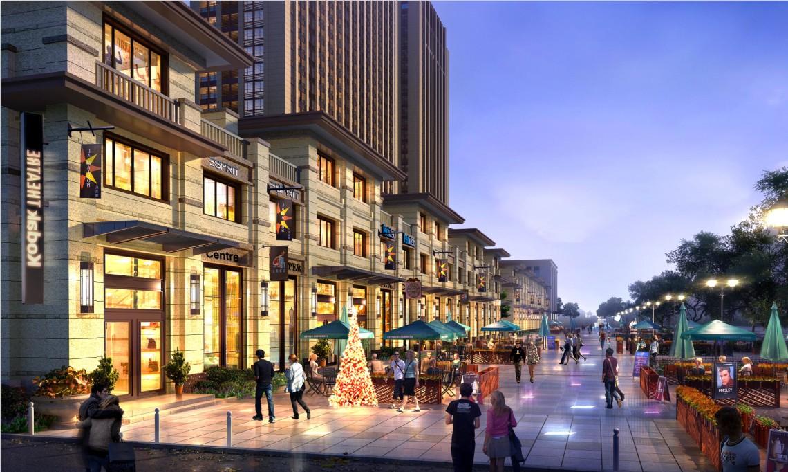 打造欧式风情商业商业步行街