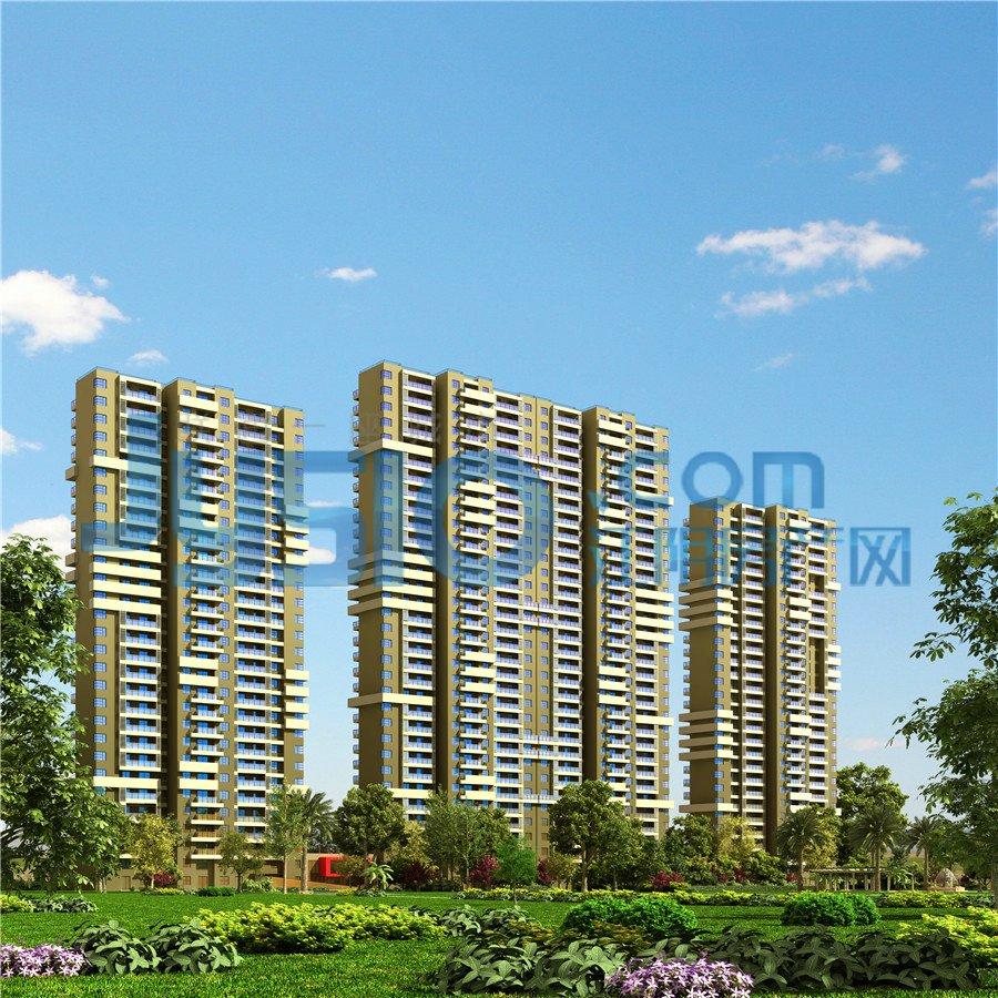 (图为和院高层住宅及景观透视效果图)高清图片