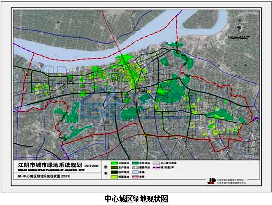 建设滨江花园城市 江阴绿线规划新鲜出炉