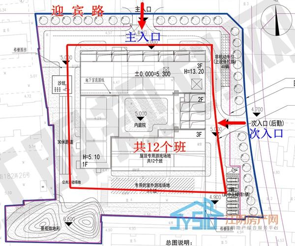 (辅延幼儿园设计方案总平面图)