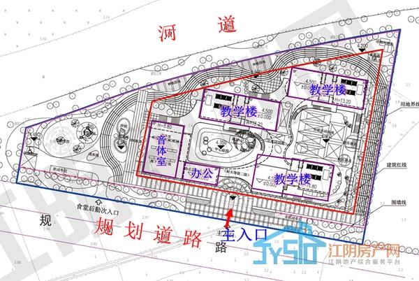 (敔山湾幼儿园设计方案总平面图)
