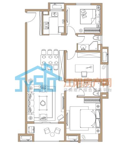 运河世家二期是个多业态楼盘,低层,多层,小高层,高层还有商铺,户型
