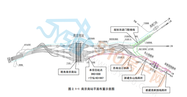 (南京南站平面图)