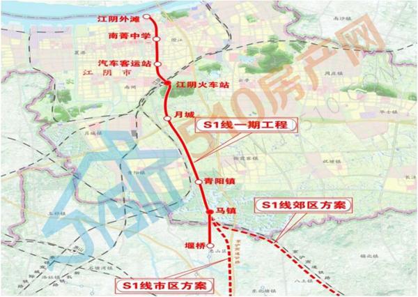 南沿江高铁初定10月初开工,地铁锡澄靖S1号线