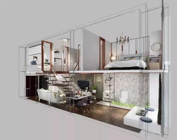 创智loft公寓设计效果图