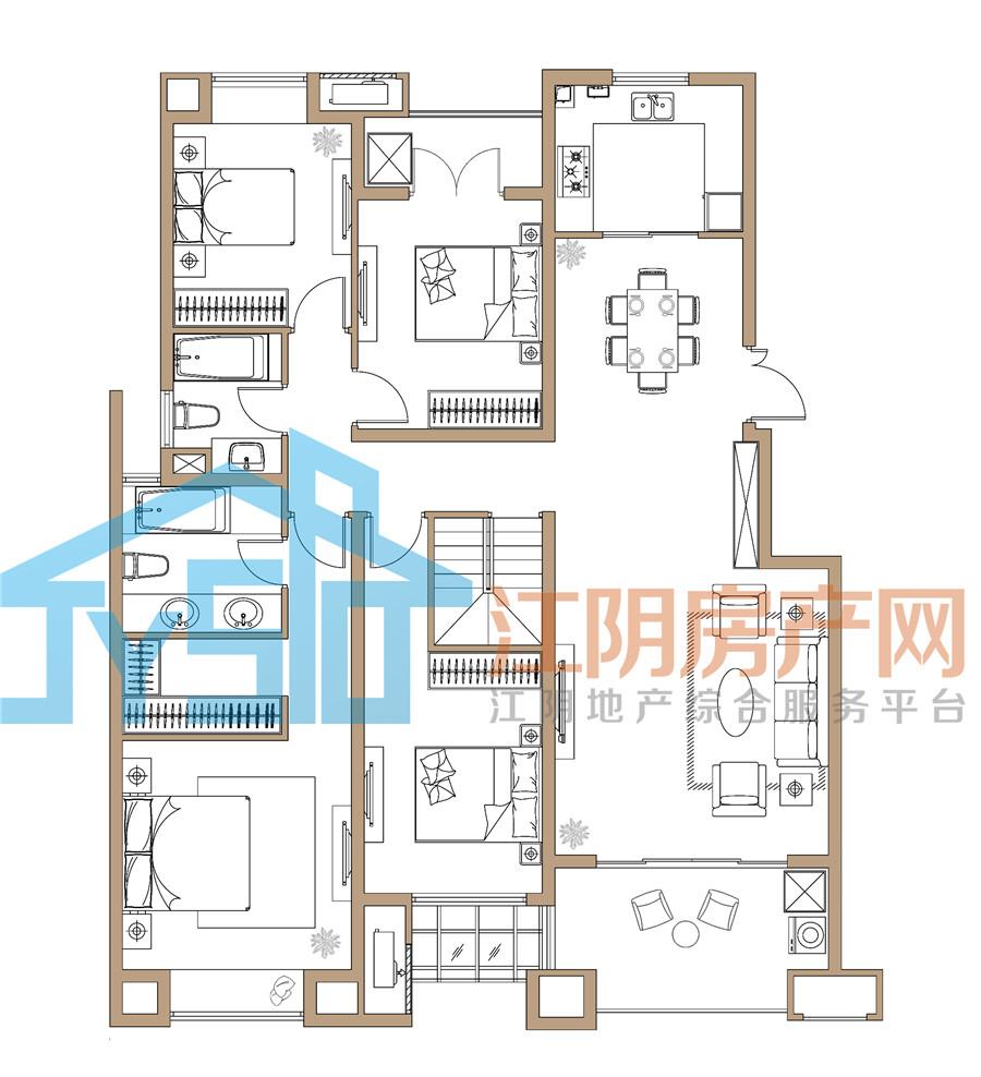 运河世家二期(北地块)二期7号楼-227单元-102室