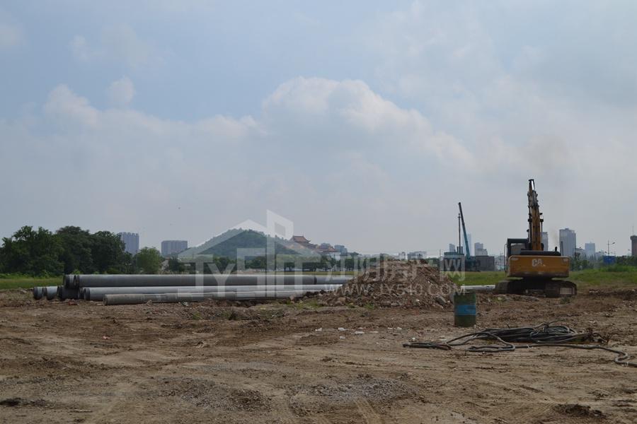 运河世家二期开工建设图与周边2017.12月